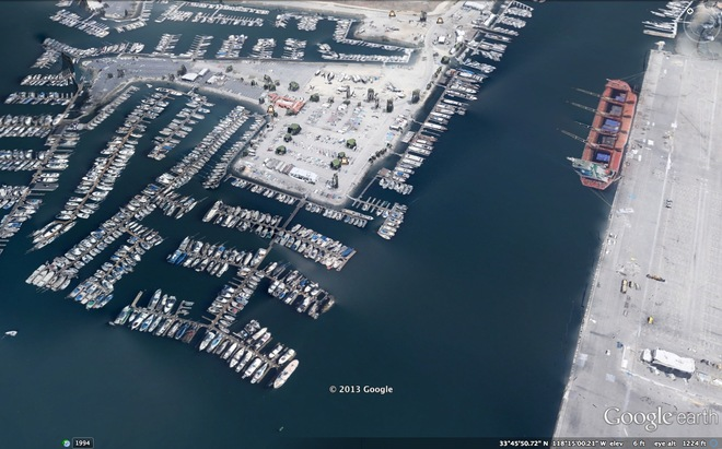 Aerial View of Newmarks Yacht Center