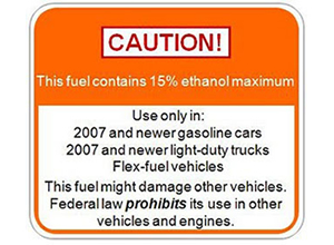 Ethanol Warning Sign
